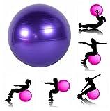 JERN Anti-Burst Fitness Exercise Stability Yoga Ball/Swiss, Birthing, Gym Ball 65 cm (Purple)