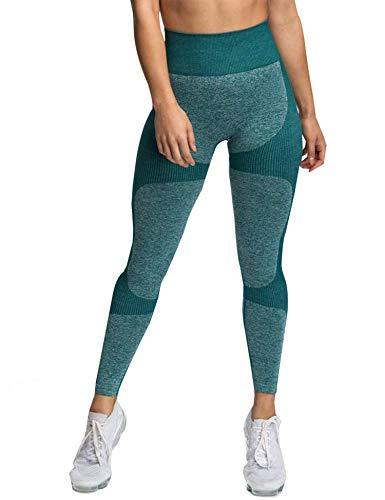 Leggings de yoga de cintura alta para mujer, sin costuras, ultra elásticos, pantalones de entrenamiento