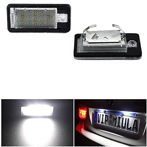 2 Stück LED Kennzeichenbeleuchtung Rücklicht Auto Nummernleuchte passend für Au di A3 8P A4 B6 B7 A5 A6 4F Q7 Autozubehör