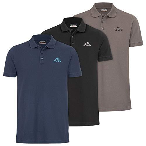 Kappa Herren Polo VELEOT 3 Polo Shirt 3er-Pack s/s 707408 Castlerock M