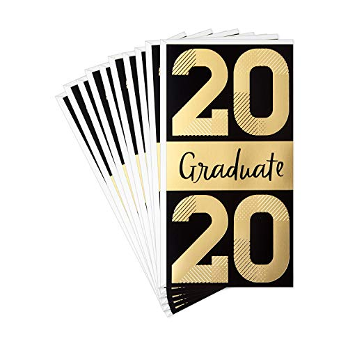 Hallmark 2020 Pack of 10 Graduation Cards Money Holders or Gift Card Holders with Envelopes (Congratulations, Graduate!) (799GGJ2001)