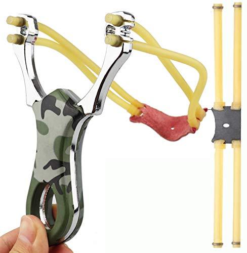 KuTi Kai Hunting Slingshot Catapults Aluminium Alloy Slingshot with 2...