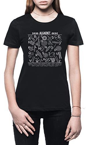 Algaebet Damen T-Shirt Schwarz Größe M - Women's T-Shirt Black