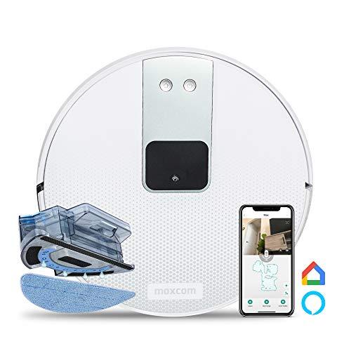 Maxcom Robot Aspirador con Mopa - Aspirador Robótico Mojado y Seco - Robot con Cámara - Conectar con App, Dispositivos Alexa - MH12 Clear Vision