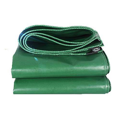 WZN Tarps Heavy Duty Waterproof 15 mil, PVC Tarpaulin with Metal Grommets 17.9 oz/sq Camping, Canopy Tent, Boat, RV or Pool Cover Green (Size : 3 * 3M)