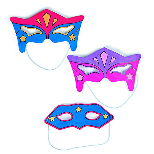 Color Your Own Superhero Mask Craft Kit - Crafts for Kids and Fun Home Activities