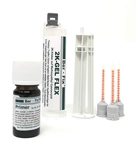 Ber-Fix® 2K-Gel Flexibel mit Primer 2K-Kleber der sofort klebt im PE PP Klebstoff Set mit Primer