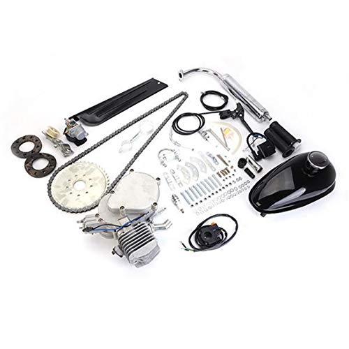 Kit de motor de gasolina de 2 tiempos 50CC motor eléctrico de la bicicleta completa Motocicleta de alta potencia de alta calidad Motor de gasolina (Color : White)