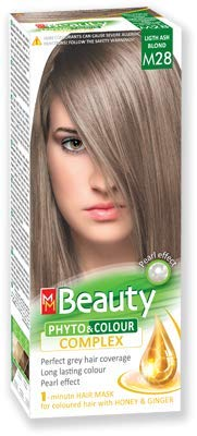 MM Beauty Permanente Haarfarbe MM Beauty Phyto & Farbe 125g - № M28 Licht Aschblond