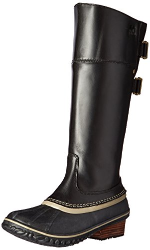 Sorel Damen Riding Tall Slimpack, Reitstiefel, hoch, II, Black, Kettle, 37 EU