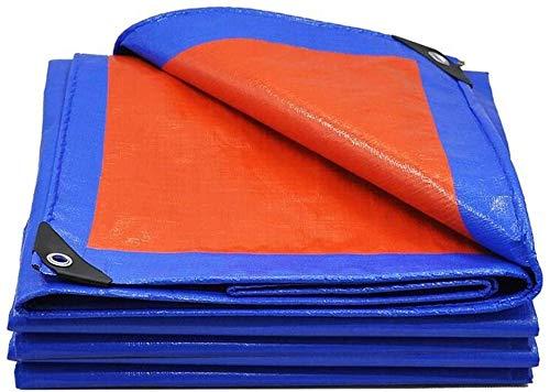 LLM Toldo Espesar al Aire Libre Lona Crepe de plástico a Prueba de Lluvia Lluvia Visera de Tela eléctrico de Tres Ruedas con Dosel Lona Impermeable Protector Solar Aislamiento (Size : 4 * 8m)