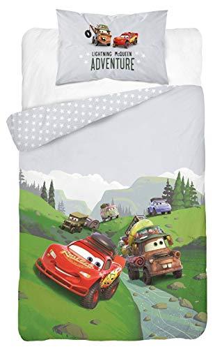 Parure da letto Disney Cars con Flash e Martin, copripiumino 100 x 135 cm + federa 40 x 60 cm