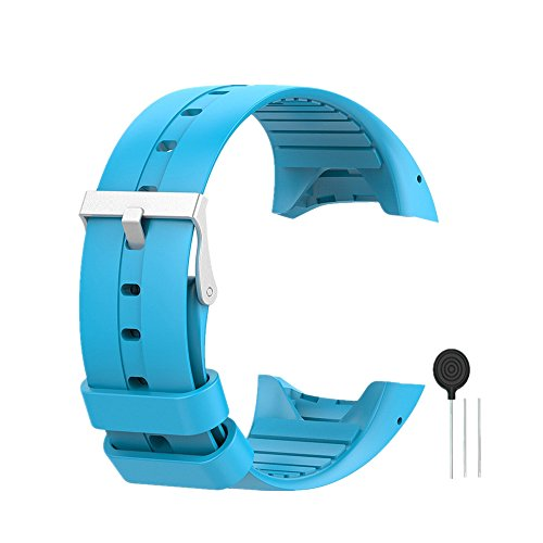 WEINISITE Silikon verstellbares Ersatzband Armband für Polar M400/M430 GPS Smart Watch (blau)