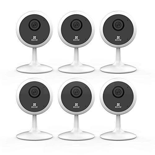 EZVIZ Indoor Security Camera 1080P WiFi Baby Monitor, Smart Motion Detection, Two-Way Audio, 40ft Night Vision, Works with Alexa & Google Assistant (6-Pack)