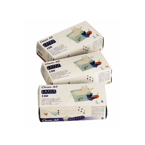 Sibel Pack de 100 gants Latex Clean All Taille M Blanc
