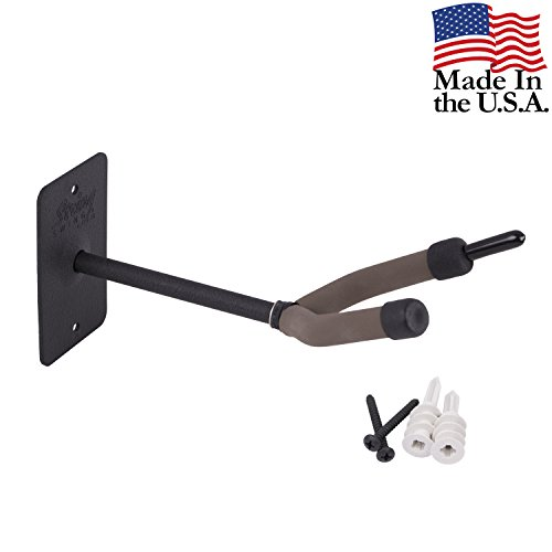 String Swing Cello Hanger - Holder for Acoustic and Electric Cellos - Stand Accessories Home or Studio Wall - Musical Instruments Safe without Hard Cases - Durable Black Powder Coated Steel