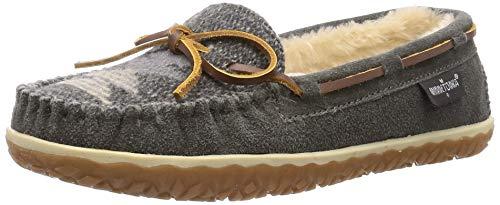 Minnetonka Women's Tilia Suede Moccasin Slippers 9 M Grey