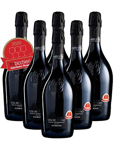 Prosecco Di Valdobbiadene DOCG Brut Col Del Forno Rive Di Refrontolo Andreola X 6 Bottiglie Box Offerta