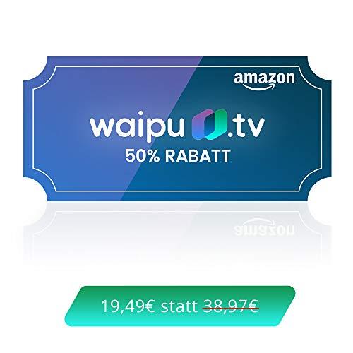 waipu.tv - Neukunden-Gutschein | TV-App für Fire TV und Smartphone | 3 Monate 50% Rabatt | Digitaler Versand