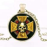 Collar inspirado en la insignia del imperio, colgante de martillo de guerra, collar de martillo de guerra, regalos artísticos para ella, para él