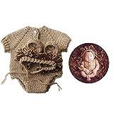 jojofuny 1 Set Recién Nacido Bebé León Disfraz Fotografía Accesorios Niños Niñas Disfraz Sombrero Saco de Dormir Foto Trajes