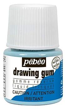 Pebeo Liquid Latex Masking Fluid Drawing Gum 45ml/1.52oz Bottle
