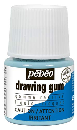 Pebeo Liquid Latex Masking Fluid Drawing Gum, 45ml/1.52oz Bottle