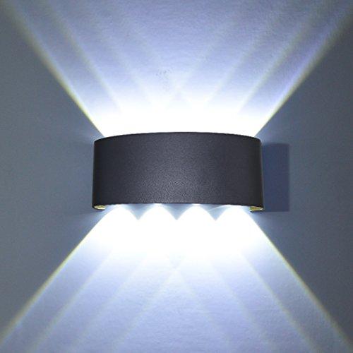 PHOEWON Wandlamp, led binnen, 8 W Modern LED-licht wandlamp aluminium lampen wandlicht boven en onder lampen spotlicht, wandlamp voor slaapkamer, woonkamer, gang