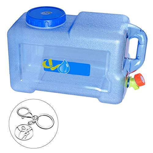 Luminiu - Recipiente para Agua de 12 l con Grifo de 38,3 a 26 a 16,5 cm, Calibre de 10 cm con Agua Potable para Camping al Aire Libre o Recipiente para Agua portátil para Uso Familiar