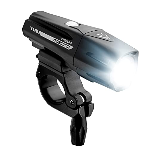 Cygolite Metro Pro – 1,100 Lumen Bike Light – 9 Night & Day Modes – Compact & Durable – IP67 Waterproof – Secured Hard Mount – USB Rechargeable Headlight – for Road, Mountain, Commuter Bicycles