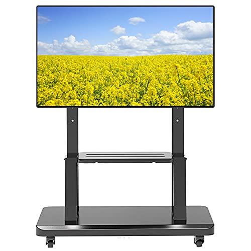 Supporto TV da pavimento Carrello TV Soporte TV Metal para Oficina/Dormitorio, Carro TV Altura Ajustable para televisores LCD LED 32/42/45/50/55/60/65/70/75 Pulgadas, Capacidad Carga 130 kg/286,6 LB