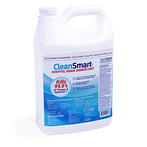 CleanSmart Hospital Grade Disinfectant, Kills 99.9% of Viruses and Bacteria, Hypochlorous Acid Technology, EPA Registered, 1 Gallon (HOCL)