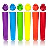 Tvvudwxx - Stampo per ghiaccioli, in silicone, 6 colori