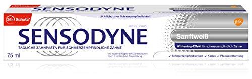 Sensodyne zacht wit, dagelijkse tandpasta met fluoride, 1x75 ml, bij gevoelige tanden