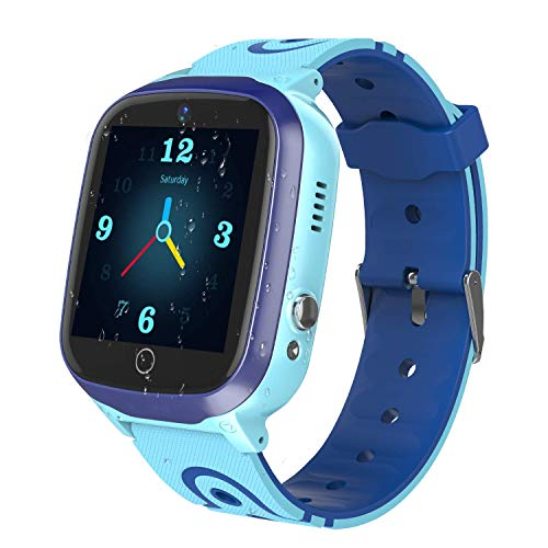 """YENISEY Kids Smart Watches GPS Tracker - 12 Hrs Waterproof Smartwatch with 1.4"""" Touch Screen WiFi GPS LBS Track SOS 2 Way Call Voice Chat Pedometer Health Fitness Watch for Boys Girls"""