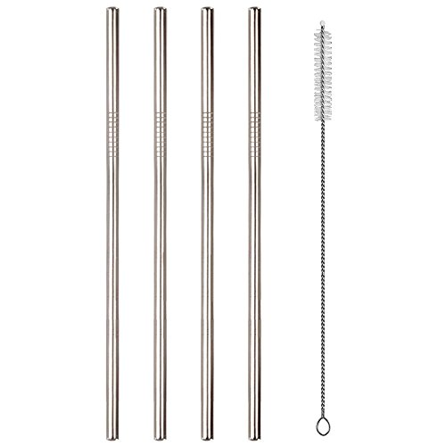 Reusable Stainless Steel Drinking Straws Metal Straws for 20 oz Tumblers - Suitable for Yeti, RTIC, Ozark Cups