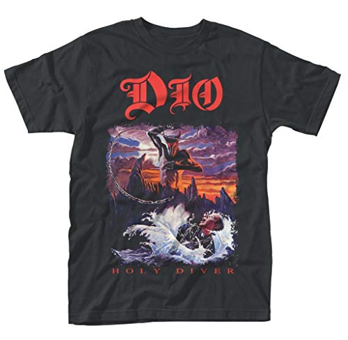 DIO Ronnie James DIO Holy Diver Rock tee T Shirt Mens Unisex,Camisetas y Tops(Medium)