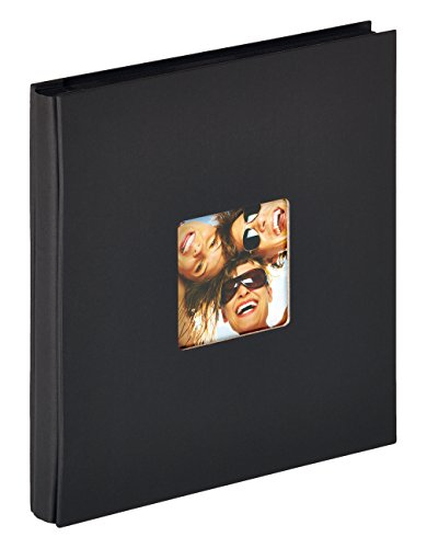 Walther design EA-110-B Fun Einsteckalbum, für 400 Fotos im Format 10 x 15 cm, schwarz