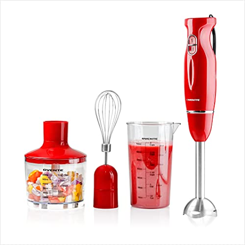OVENTE HAND BLENDER WITH 2 BLENDING SPEED STAINLESS STEEL BLADES