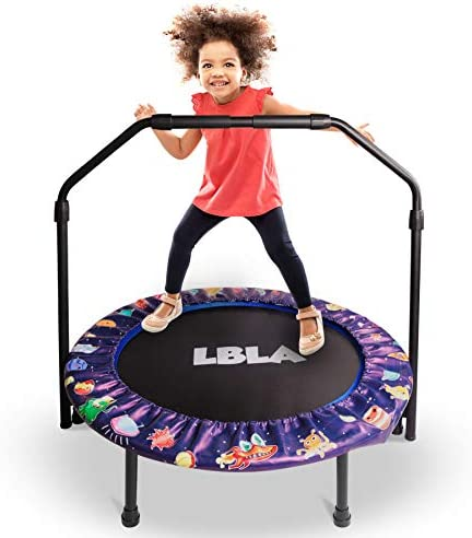 36 Inch Trampoline for Kids Mini Trampoline with Adjustable Handle and Safety Padded Cover Foldable product image