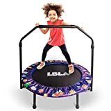 36-Inch Trampoline for Kids Mini Trampoline with Adjustable Handle and Safety Padded Cover Foldable Toddler Trampoline Indoor & Outdoor Rebounder Trampoline for Kids Play and Exercise