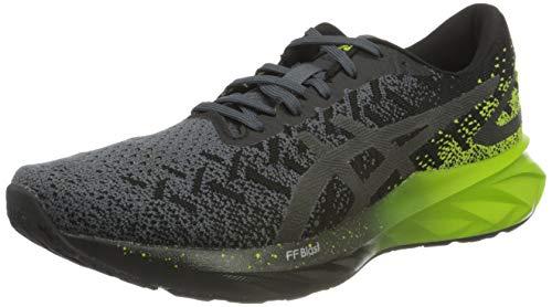 ASICS Mens Dynablast Running Shoe, Black/Lime Zest,44.5 EU