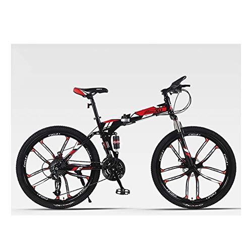 Unbekannt Mountainbike, City Bike, 27 Geschwindigkeitsänderung, Scheibenbremsen, Doppel stoßabsorbierendes Querfeldeinrennen, Stadt 26-Zoll-Rahmen-Bike,Rot