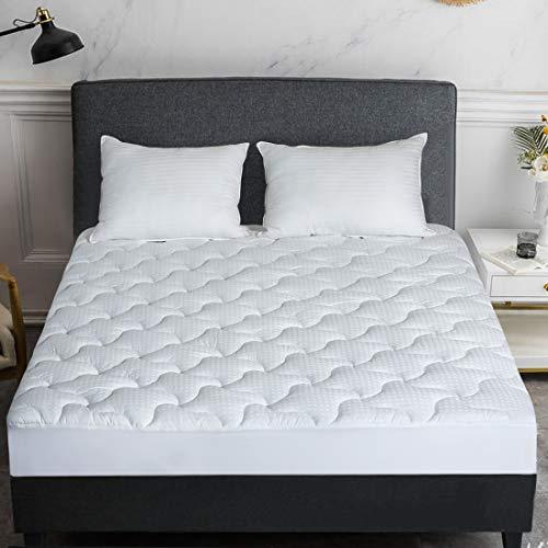 INGALIK Mattress Pad Queen Size Cotton Mattress Topper Cooling Mattress Pad Cover Pillow Top (8-21Inch Deep Pocket Down Alternative)