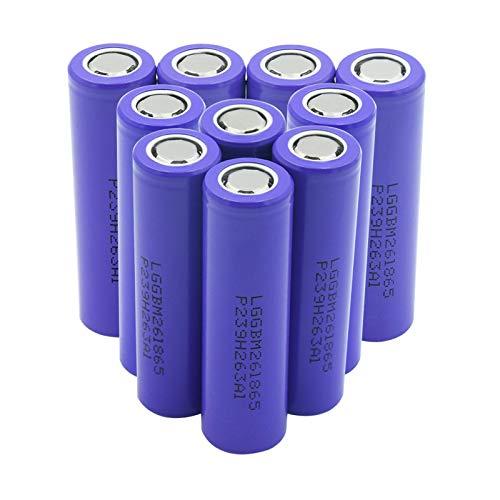 hsvgjsfa 3.7v 18650 2600mah Litio Batteires, Volt High Drain 10A Battery Se Puede Utilizar para Herramientas EléCtricas Etc 10pieces