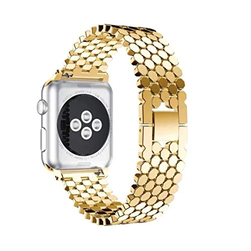 YuZhiGang Correa de Reloj de reemplazo for la Serie del Reloj de Apple 5 y 4 de 40 mm / 3 y 2 y 1 Nido de Abeja de 38 mm de Acero Inoxidable Correa de reemplazo, reemplazo de la Correa de Acero Reloj