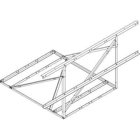 Cheapest Prices! CommScope - RF-N10-B - 10' Non-Penetrating Roof Frame for 2-3/8 OD Pipes, (Each)