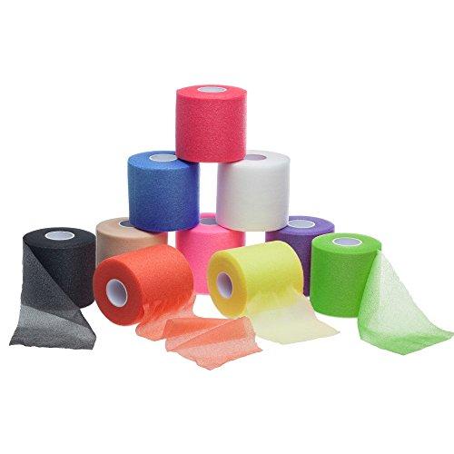 ZiATEC Power Underwrap - Unterverband aus Schaumstoff | Elastische-Binde zur Haarfixierung, Tapeschutz in viele Farben, Farbe:schwarz