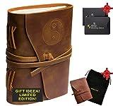 Genuine Leather Journal - Embossed Handmade Bound Notebook Real...