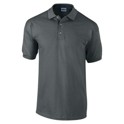 Gildan Ultra Herren Piqué Polo-Shirt, Kurzarm XL,Kohlegrau